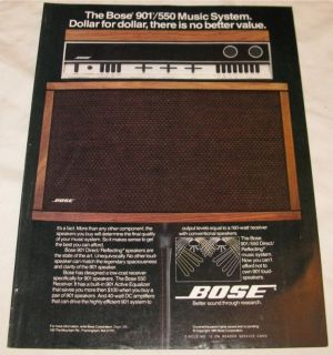 vintage bose 901 550 music speakers system print ad time