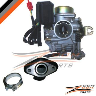 20mm Roketa 50cc 50 Carburetor & Intake Manifold Boot Scooter Moped