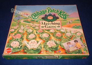 Cabbage patch kids matching game 1995 Mattel, match babies to birth