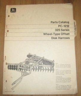 john deere 325 offset disk harrow parts catalog time left