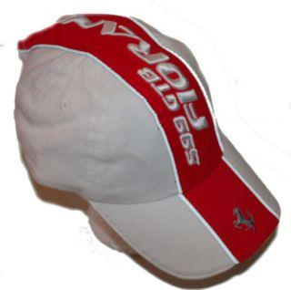 MENS FERRARI 599 GTB FIORANO White & Red BASEBALL CAP HAT NWT