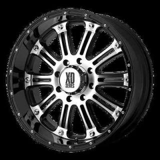17 XD795 HOSS MACHINED BLACK RIMS & 295 70 17 TOYO OPEN COUNTRY MT