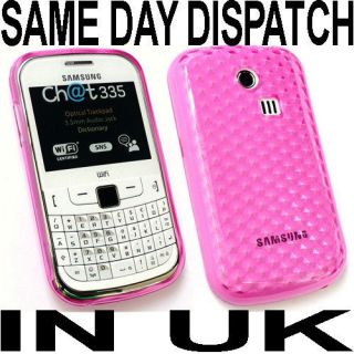 pink gel case cover for samsung chat 335 s3350 uk