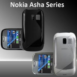 Line Grip Series Silicone Gel Case Skin Cover For Nokia Asha 302