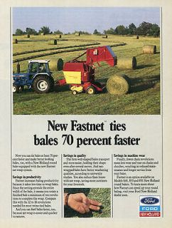 1989 ford new holland 5610 farm tractor 855 baler ad