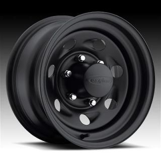 US Wheel 094 Series Stealth Vortec Black Steel Wheels 16x8 6x6.5 BC