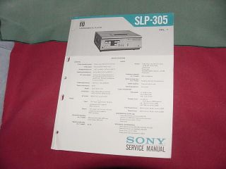 original service manual for sony slp 305 beta player time
