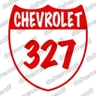 chevrolet 327 shield badge emblem decal sticker time left $ 2 49 buy