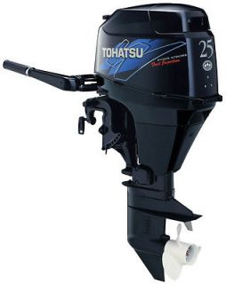 TOHATSU 25 HP EFI 4 STROKE OUTBOARD MOTOR TILLER 15 SHAFT BOAT ENGINE