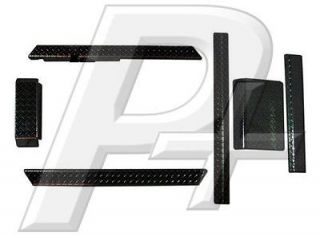 Club Car DS Golf Cart Black Diamond Plate Combo Accessory Kit