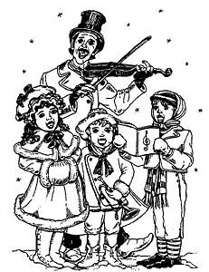 Unmounted Rubber Stamp, Christmas Stamps, Victorian Christmas Carols