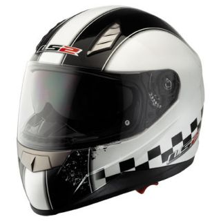 LS2 F384.5 SPEED Motorcycle Helmet   Gloss White   EXTRA LARGE XL   61