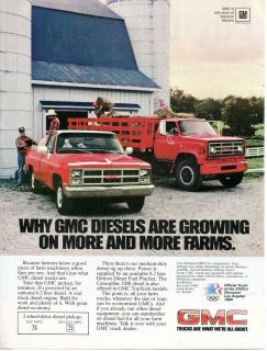1982 GM General Motors GMC CAT 3208 Diesel Farm Pickup Truck & Stake