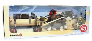 SCHLEICH 72003 HORSE WAGON W. CLYDESDALE MARE & DRIVER SPECIAL EDITION