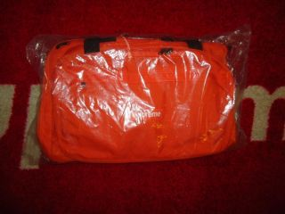 SUPREME 2012 S/S BOX LOGO 32 ORANGE TRAVEL DUFFLE BAG BACKPACK UTILITY