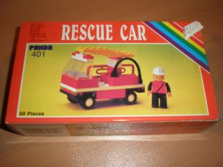 80S VINTAGE GREEK ITALOCREMONA LEGO PANDA RESCUE CAR 401 MIB