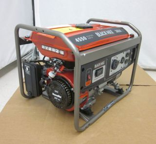 NEW Black Max BM903655RA 3650 Watt Portable Gas Generator 208cc 11 Hr