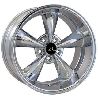 Chrome Bullitt 18 inch Mustang Wheels Deep Dish 18x9 & 18x10 Bullet