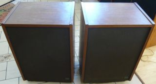 BOZAK VINTAGE SPEAKERS MODEL LS 400 IN GOOD COSMETIC, WORKING