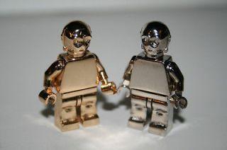 Custom C 3PO Mini Fig Figure ALL METAL 14K gold plated Lego Star Wars