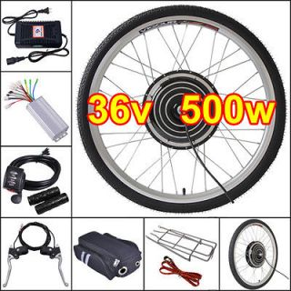 36V500W 26 Front Wheel Electric Bicycle Motor Kit E Bike Cycling Hub