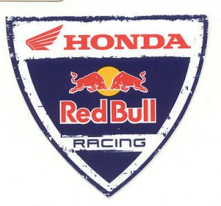 HONDA RED BULL RACING Original Sticker Decal Vintage Motocross