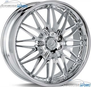 18x7.5 Verde Regency 5x115 5x100 +40mm Chrome Wheels Rims Inch 18