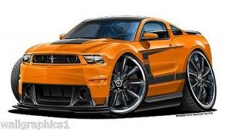 2012 Ford Mustang Boss 302 444 HP 6 SP Wall Graphic Vinyl Decal Man