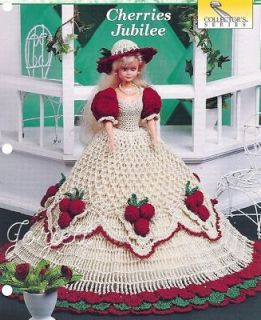 cherries jubilee crochet patterns fit barbie dolls  7 95