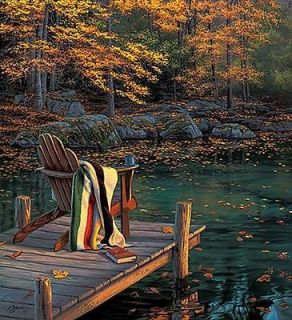 Darrell Bush  Reflecting On Golden Pond Signed And Numbered