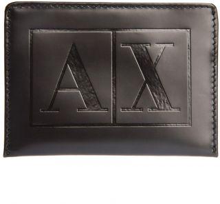 armani exchange authentic box logo card case