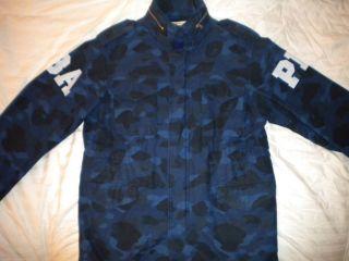 bathing ape m65 camo blue jacket authentic large bape