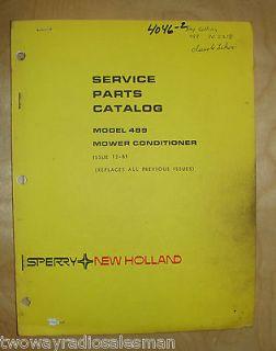 New Holland 489 Haybine Mower Conditioner Parts Manual 5048916 5048914