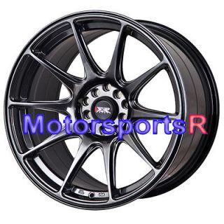 17 XXR 527 Chromium Black Staggered Rims Wheels Concave 5x114.3 08