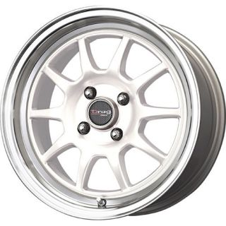 16 DRAG DR16 WHITE RIMS WHEELS 16x7 +40 4x100 CIVIC INTEGRA XB MINI