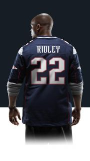 Stevan Ridley Mens Football Home Game Jersey 468960_437_B_BODY
