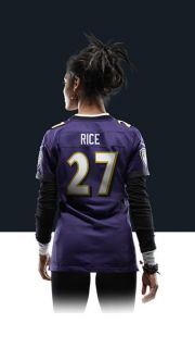 Ravens Ray Rice Womens Football Home Game Jersey 469891_574_B_BODY