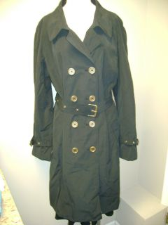 ISAACMIZRAHILIVE Trench Coat w Logo Buttons Polkadot