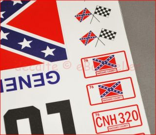 General Lee RC Car 1 10 Scale Decals Stickers Duke of Hazzard Set