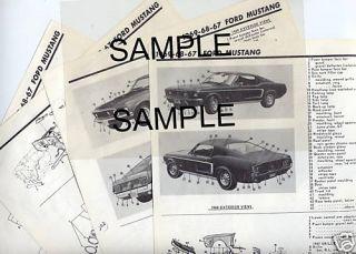 1963 1964 1965 1966 1967 1968 DODGE DART BODY PARTS LIST FRAME CRASH