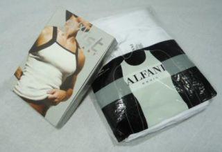 Alfani/2(x)ist Pack of 6 Ribbed Tanks WHITE/BLACK L nwt