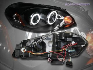 2006 2008 Chevy Impala Monte Carlo Two CCFL Halo Projector Headlights