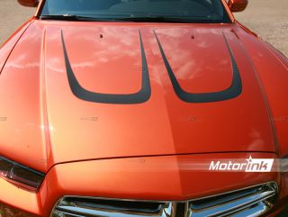 2011 Up Dodge Charger Hood Scallop Accent Decal Kit