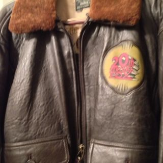 20th Century Fox Leather U s Navy Bomber Jacket