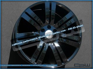 Gloss Black Concept 24 Wheels Rims Chevrolet Cadillac GMC Fitment 07
