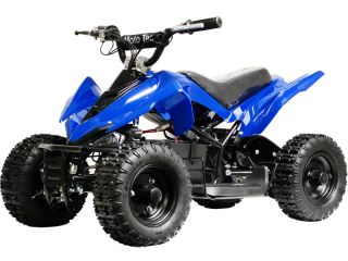 ATV 24 Volt Kids Battery Powered Electric Blue Ride on Childrens ATV