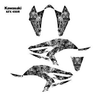 Kawasaki KFX450R ATV Graphic Decal Sticker Kit Zombie 9500METAL