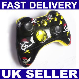 Rose Shell Housing for Xbox 360 Controller +Chrome Gold Buttons