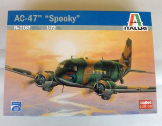 72 scale unassembled plastic model kit DOUGLAS AC 47 SPOOKY
