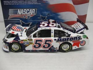 2012 Mark Martin #55 Aarons Nascar Unites Armed Forces Foundation
